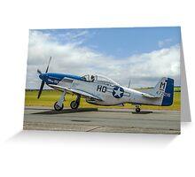 """P-51D Mustang 44-72216/HO-M G-BIXL """"Miss Helen"""" Greeting Card"""
