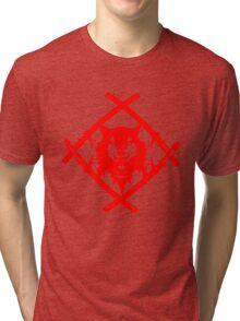 XWULF BLADES BLOOD RED Tri-blend T-Shirt