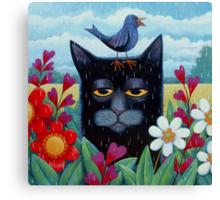 Long Blue Summer Canvas Print