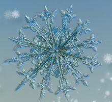 Snowflake Christmas card #5 Sticker