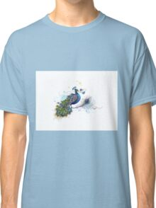 Blue Paisley Peacock Classic T-Shirt