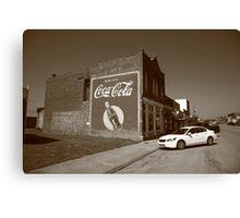 Route 66 - Coca Cola Ghost Mural Canvas Print