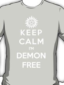 Keep Calm Im Demon Free(white) T-Shirt