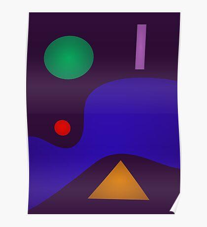 Soft Minimalism Dark Poster