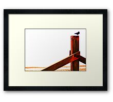 Crow at the Seaside Eight Framed Print