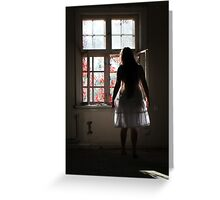 In the abandoned asylum Greeting Card