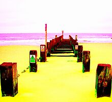 Out to Sea- Yellow by Vincent J. Newman