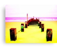 Out to Sea- Yellow Canvas Print