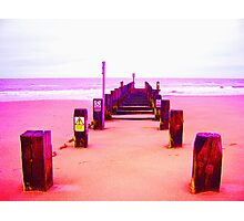 Out to Sea- Magenta Photographic Print