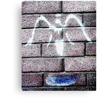 Urban Angel Grey Canvas Print