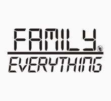 Family Over Everything (Black) by TheLD