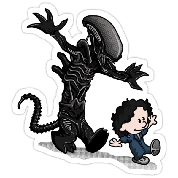 Ripley and alien by oliviero