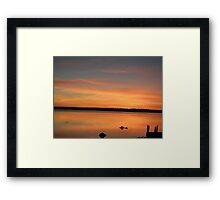 Orange Mirror Sunset Framed Print