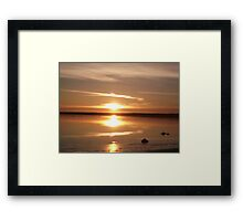 Glass Sunset Framed Print