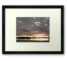 Cloudy Sunset Framed Print