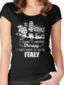 Italy Therapy Women's Fitted Scoop T-Shirt
