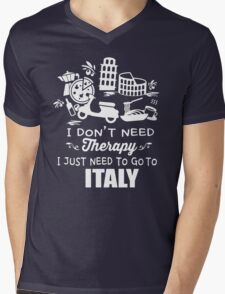 Italy Therapy Mens V-Neck T-Shirt