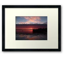 Divided Sky Framed Print