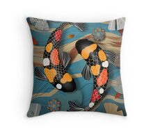 Koi Watergarden Throw Pillow