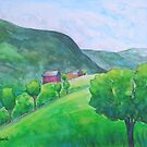 Oelnes on the Sogndal Fjord by Caroline  Lembke
