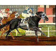 Quarter Horse Racing Horse Portrait  Photographic Print