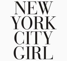 New York City Girl Vogue Typography Kids Clothes