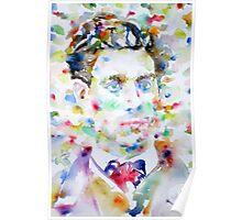 LAUTREAMONT - watercolor portrait Poster