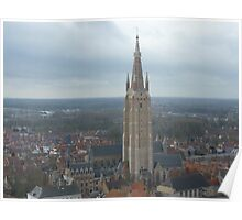 church with steeple Poster