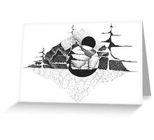Mountains in a world of their own Greeting Card