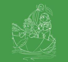 Raggedy Ann & Andy Go Sailing Kids Tee
