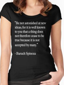 Baruch Spinoza Women's Fitted Scoop T-Shirt