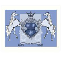 Heraldic Unicorns Art Print