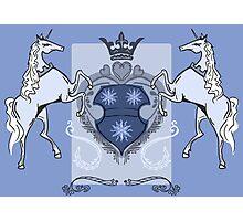 Heraldic Unicorns Photographic Print