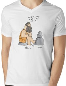Caveman wishes for the internet Mens V-Neck T-Shirt