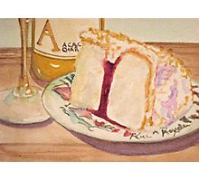Cake and wine Photographic Print