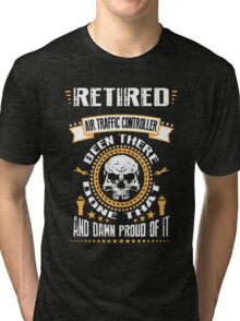 Retired Air Traffic Controller Tri-blend T-Shirt