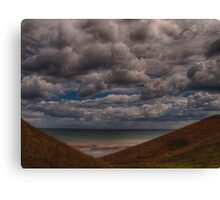 Clouds over the Beach Canvas Print