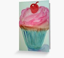 Cupcake with a Cherry on Top Greeting Card