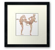 Coral Anatomy Kung Fu  Framed Print