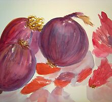 Red Onions by Loretta Barra