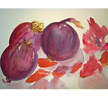 Red Onions Photographic Print