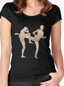 Coral Anatomy Kung Fu  Women's Fitted Scoop T-Shirt