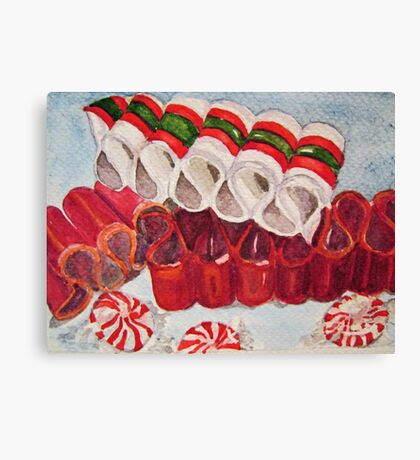 Ribbon Candy Red Canvas Print