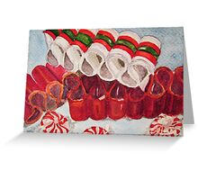 Ribbon Candy Red Greeting Card