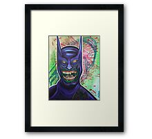 Zombie Batman Framed Print