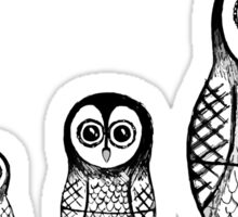 Babushka Owls Sticker