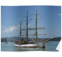 The Picton Castle at Opua, Bay of Islands,  New Zealand......! Poster
