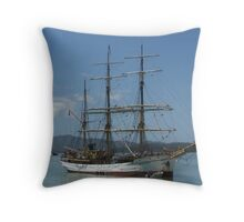 The Picton Castle at Opua, Bay of Islands,  New Zealand......! Throw Pillow