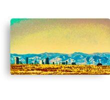 Denver City On The Plains Canvas Print