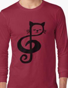Treble-Clef Cat Long Sleeve T-Shirt